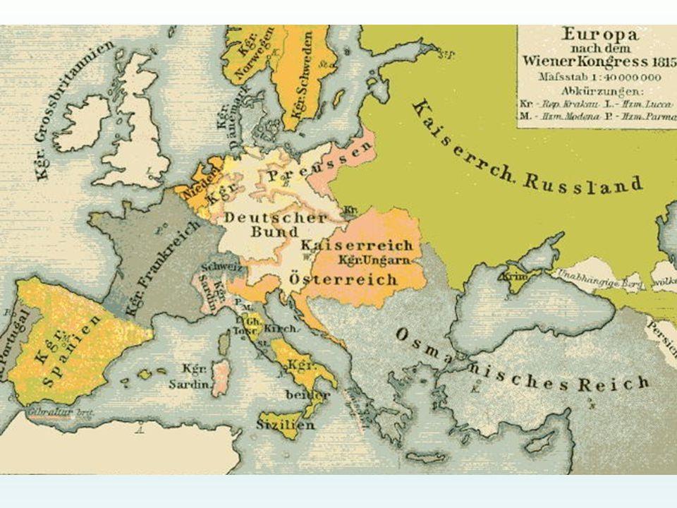 Europa dopo il Congresso di Vienna