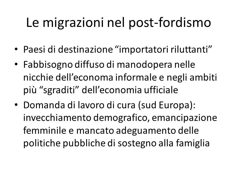 Le migrazioni nel post-fordismo