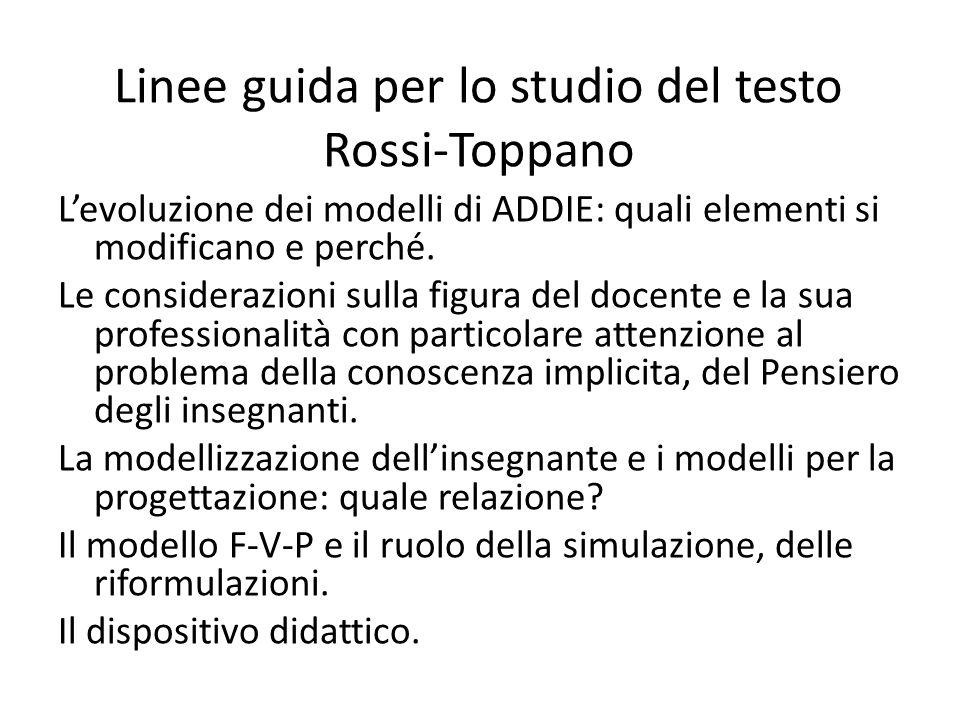 Linee guida per lo studio del testo Rossi-Toppano