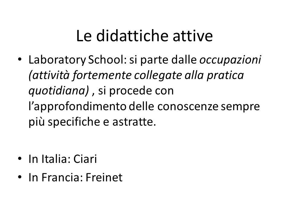 Le didattiche attive