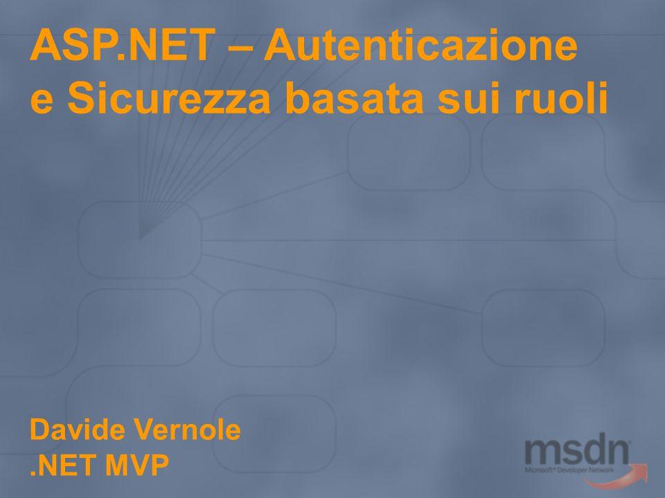 ASP.NET – Autenticazione e Sicurezza basata sui ruoli
