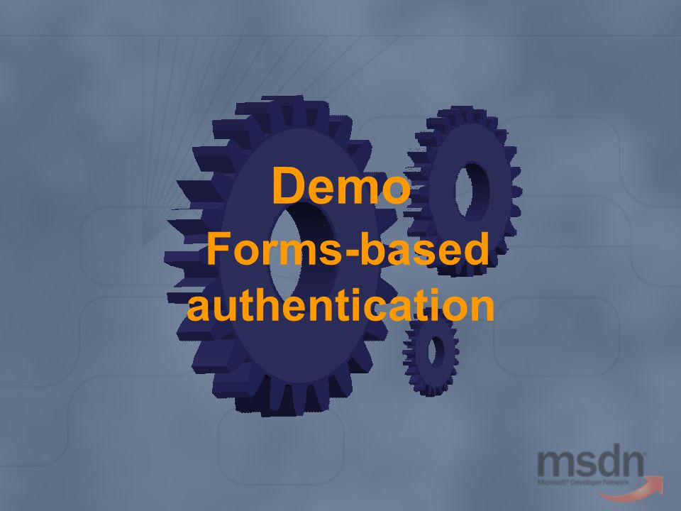 Demo Forms-based authentication