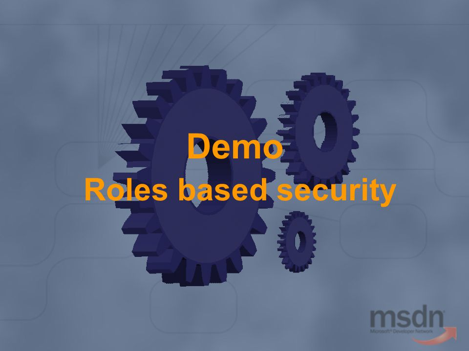 Demo Roles based security