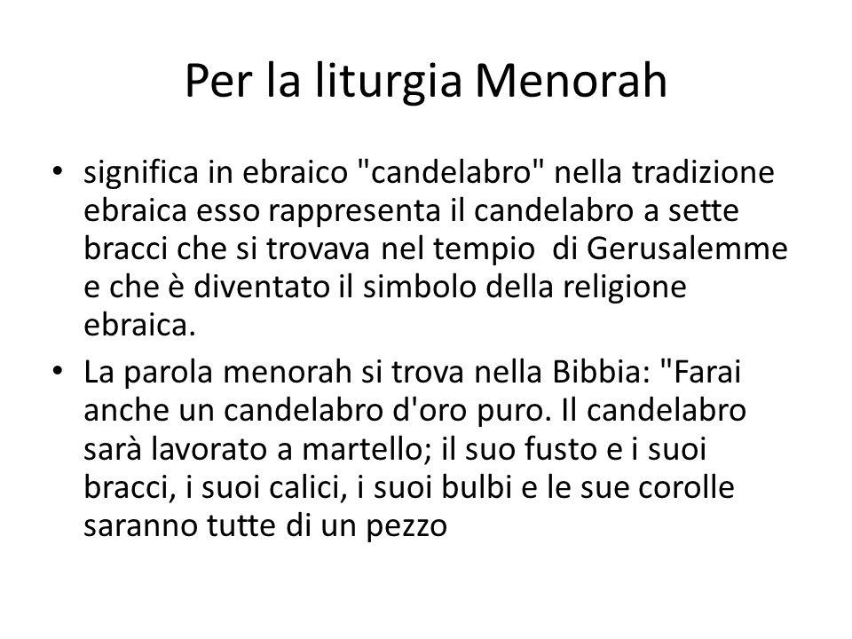 Per la liturgia Menorah
