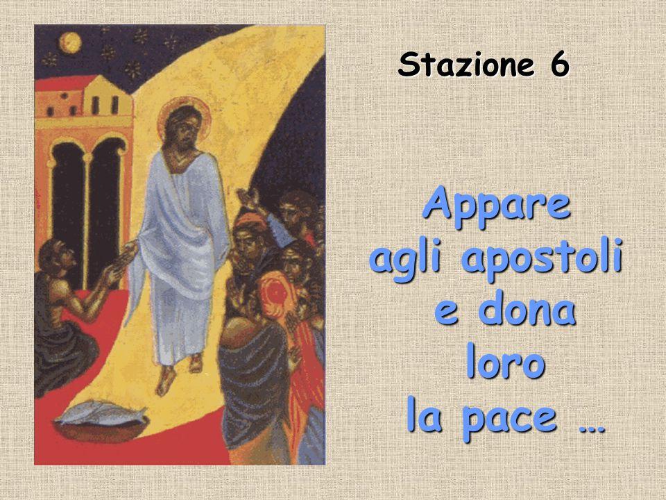 Appare agli apostoli e dona loro la pace …