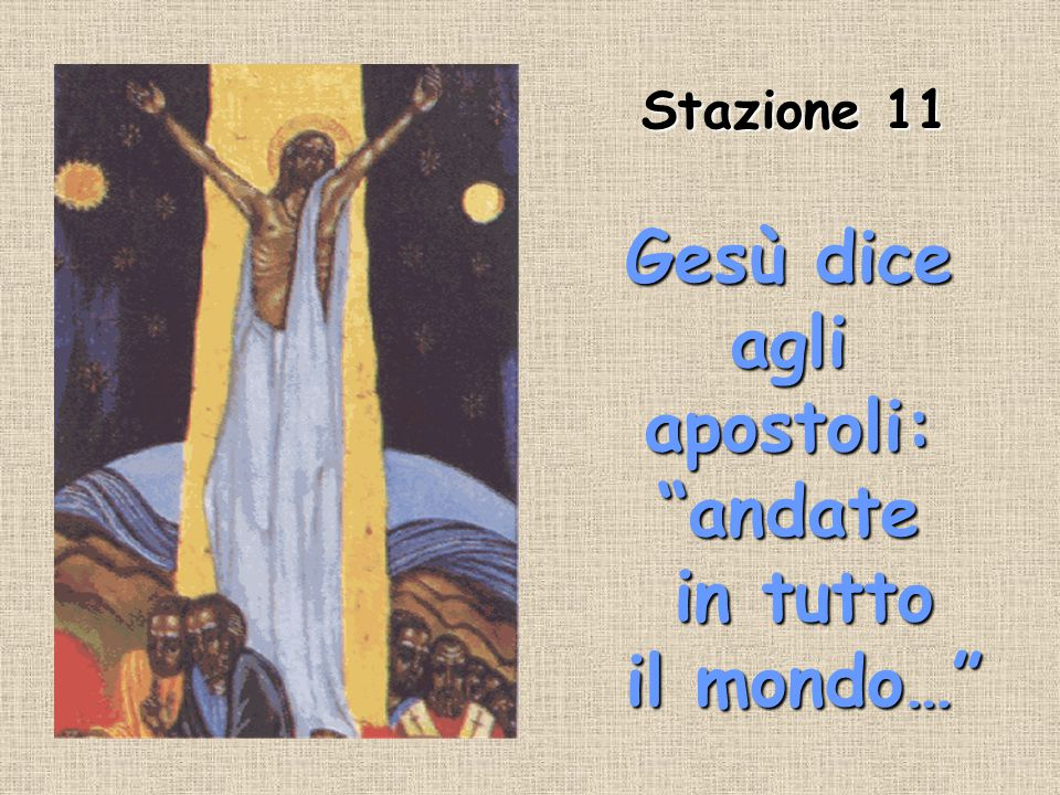 Gesù dice agli apostoli: andate in tutto il mondo…