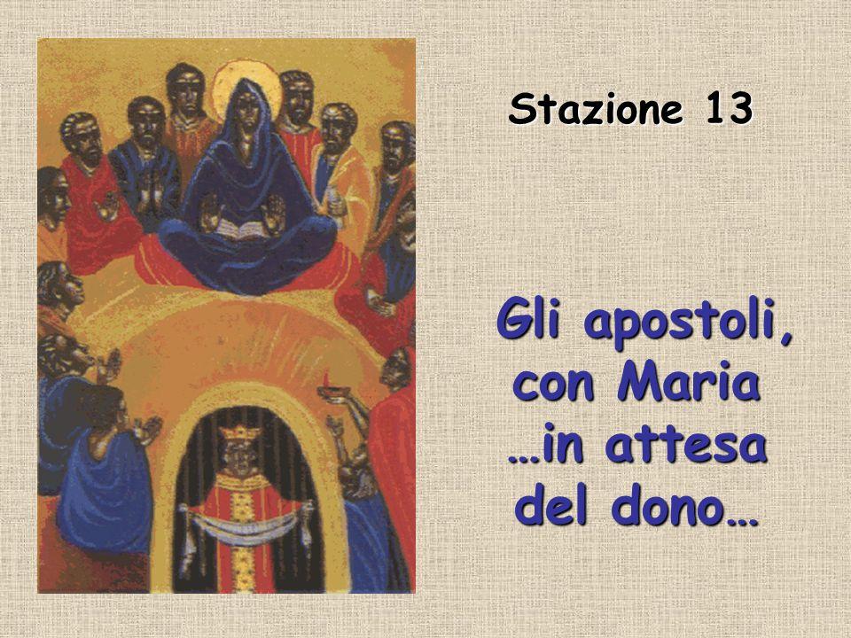 Gli apostoli, con Maria …in attesa del dono…