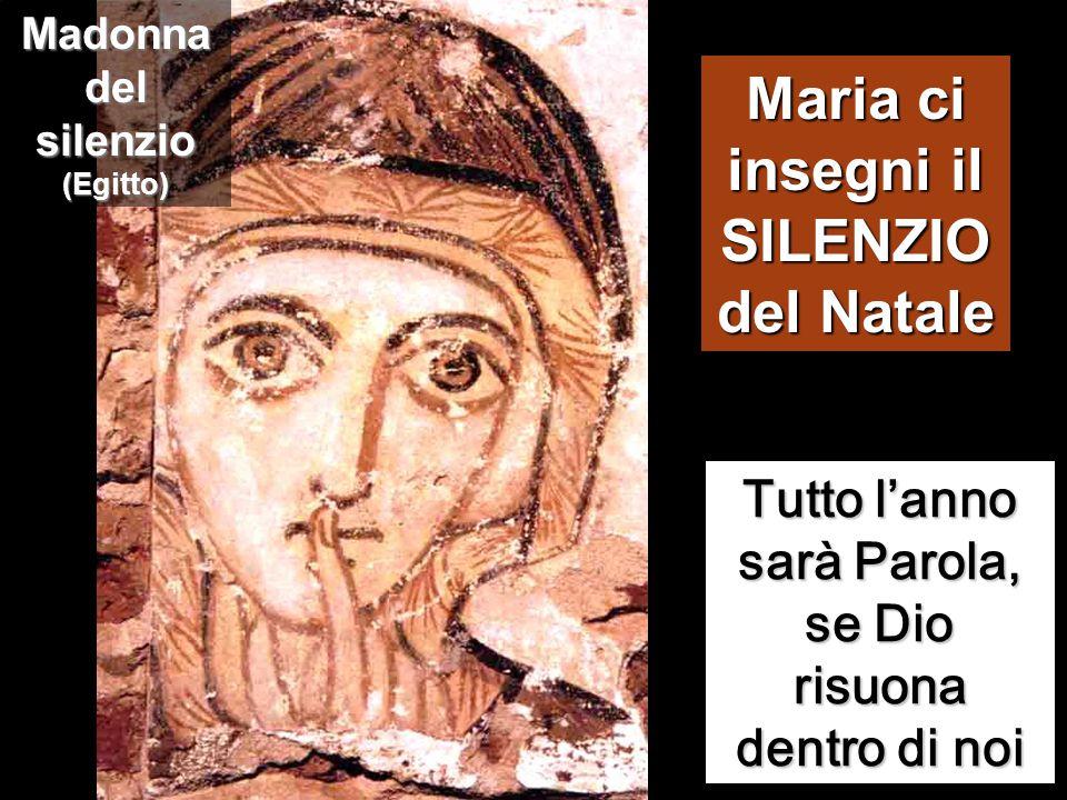 Maria ci insegni il SILENZIO del Natale