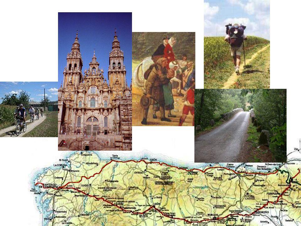 Camino di Santiago de Compostela: cattedrale di Santiago, pellegrini medievali, cammino a piedi e in bicicletta, percorso francese (4 varianti) e spagnolo