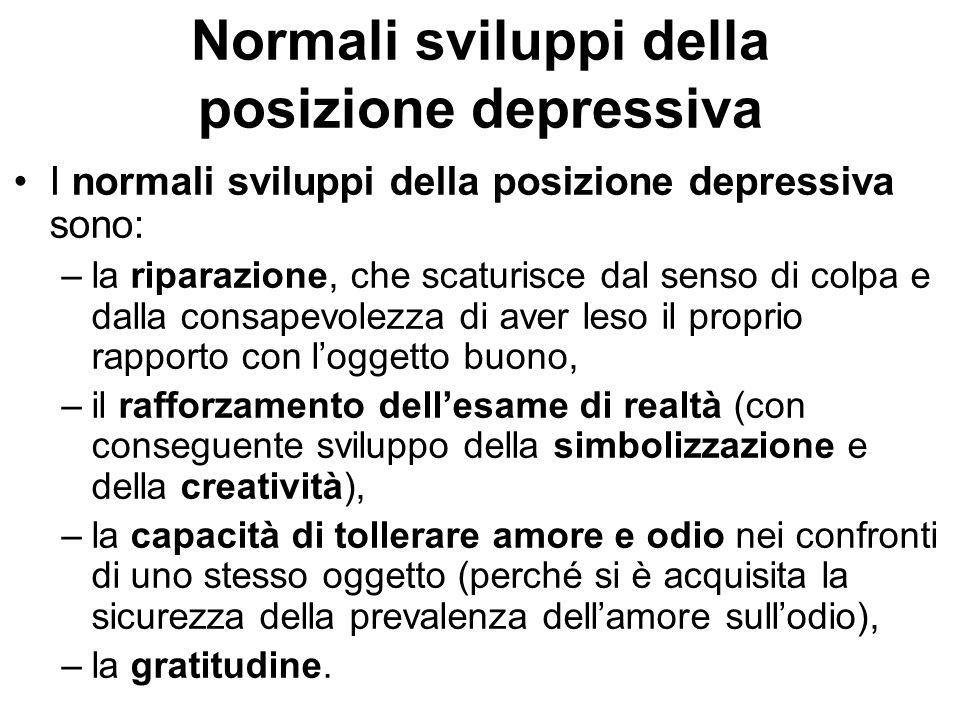 Normali sviluppi della posizione depressiva