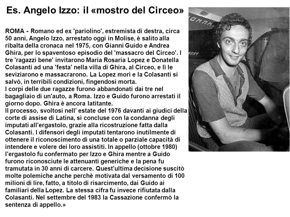Es. Angelo Izzo: il «mostro del Circeo»