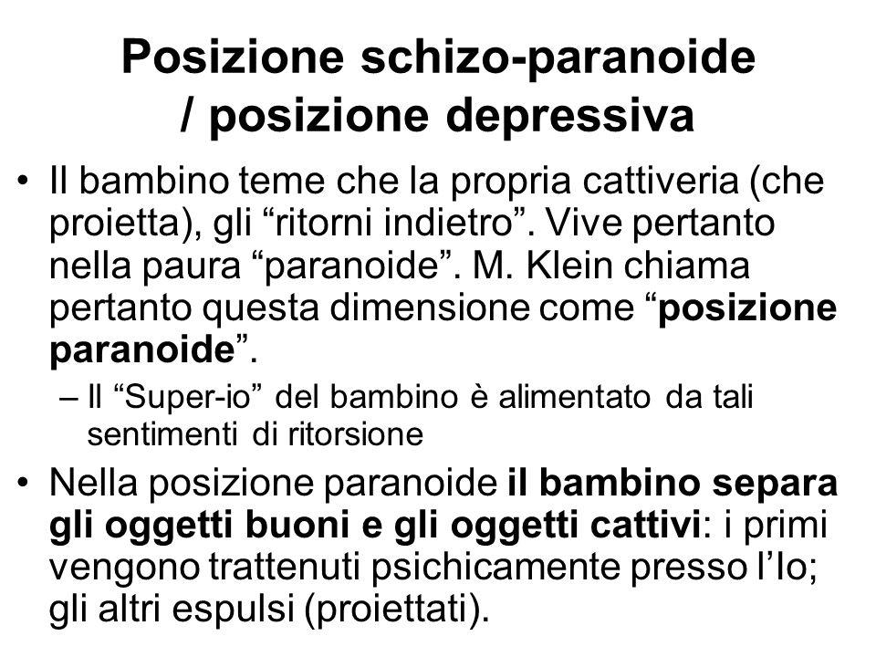 Posizione schizo-paranoide / posizione depressiva