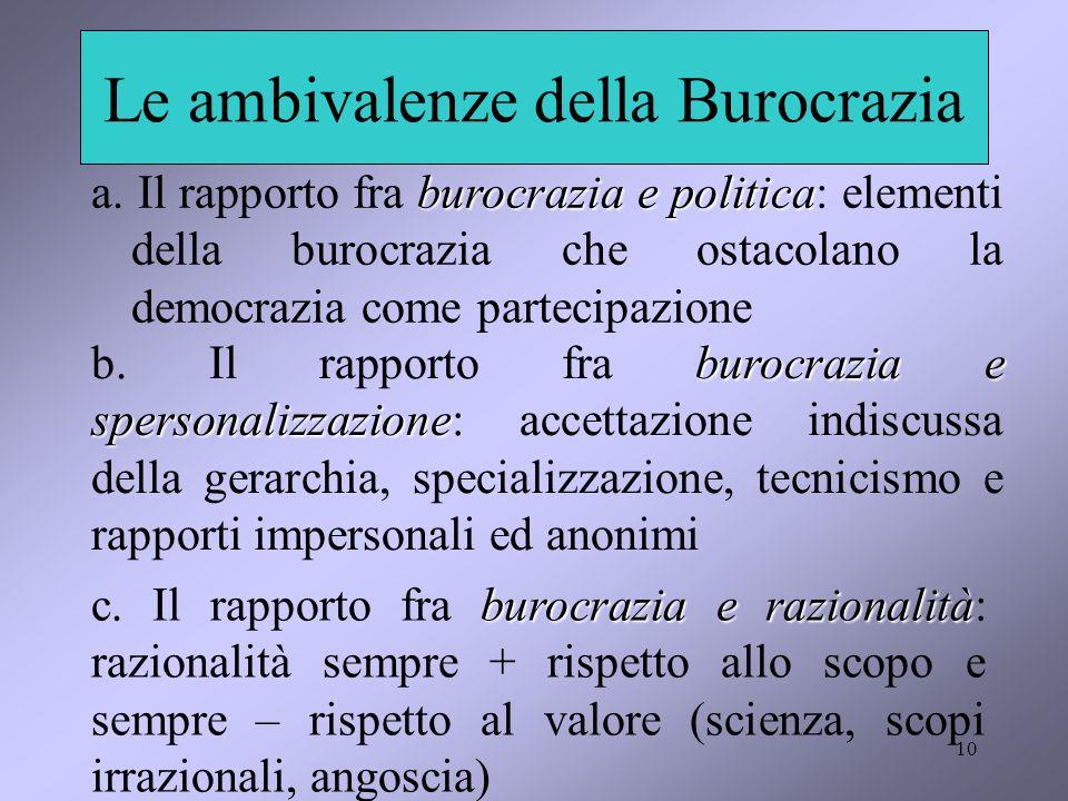 Le ambivalenze della Burocrazia