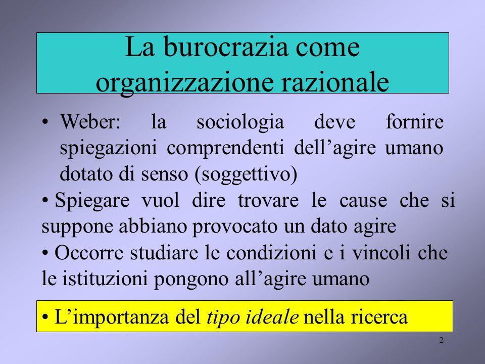 La burocrazia come organizzazione razionale