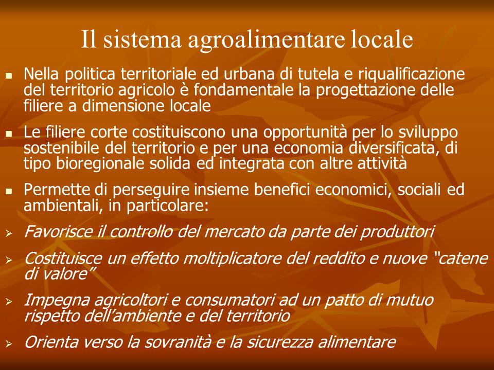 Il sistema agroalimentare locale