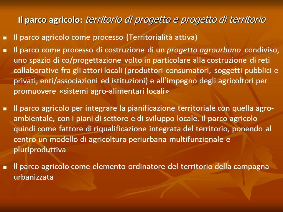 Il parco agricolo: territorio di progetto e progetto di territorio