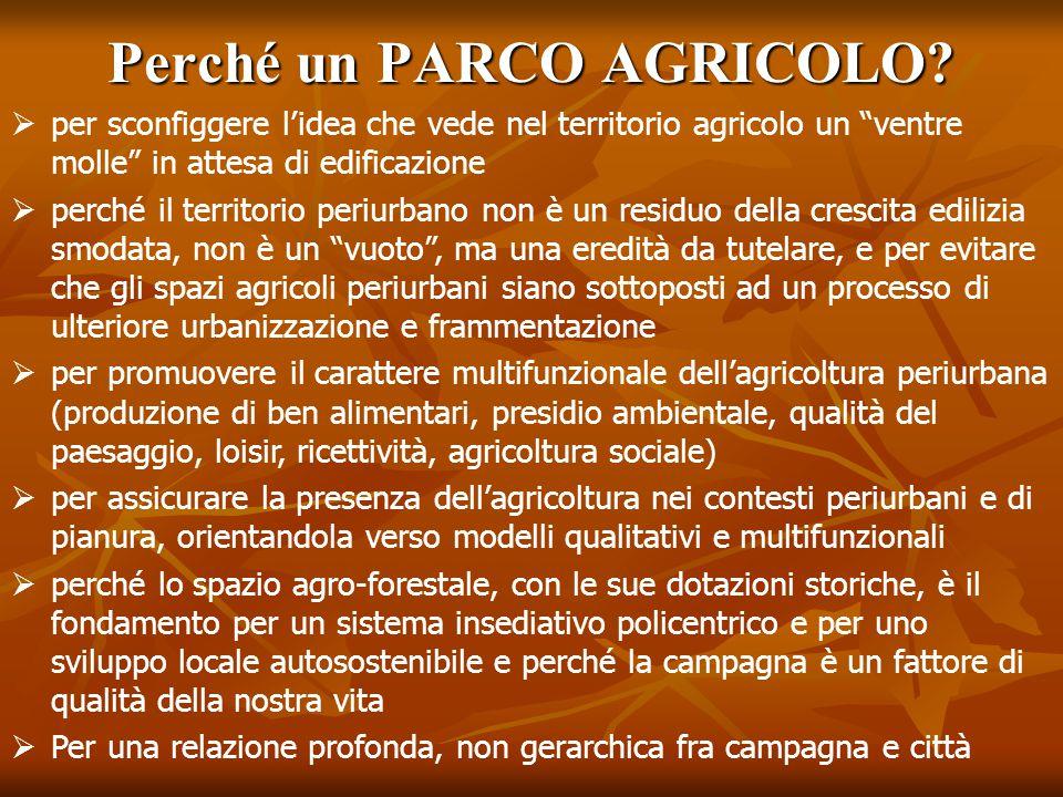 Perché un PARCO AGRICOLO