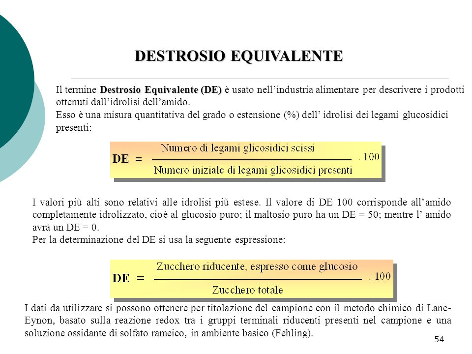 DESTROSIO EQUIVALENTE