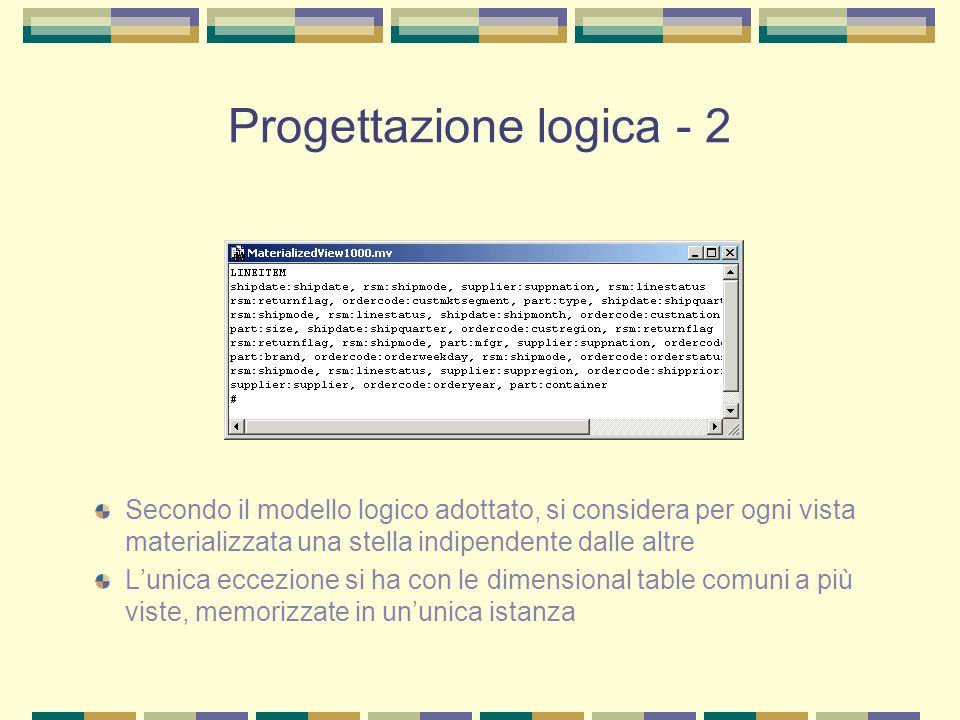 Progettazione logica - 2