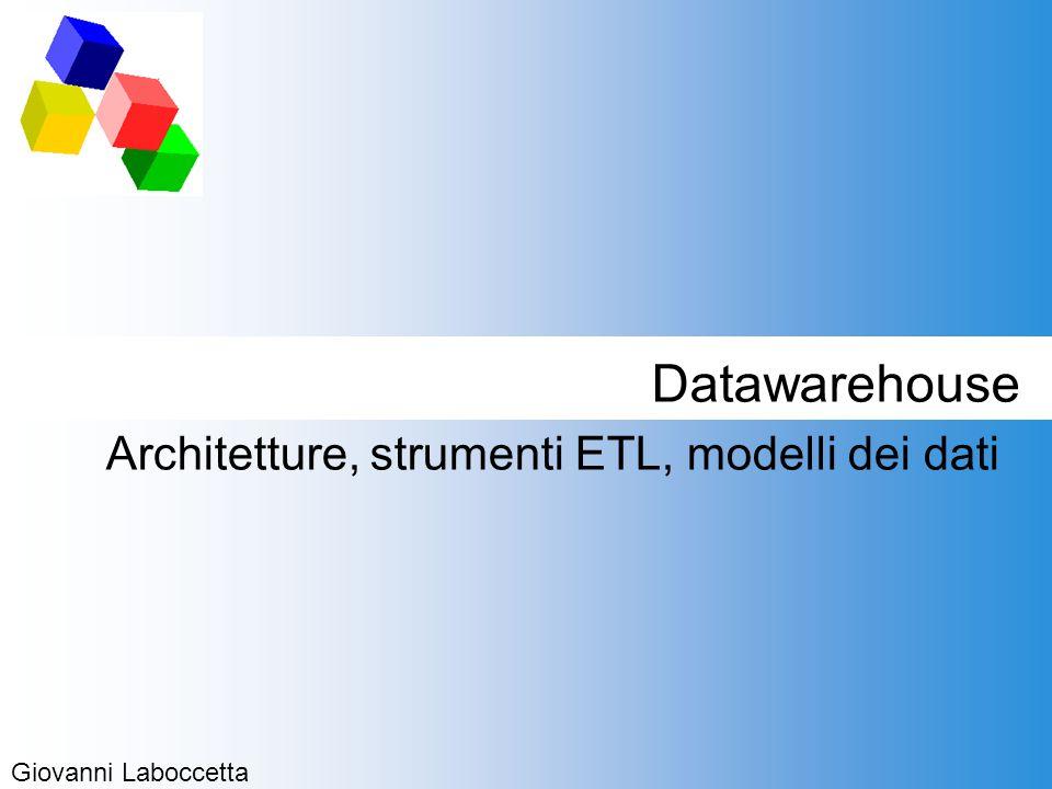 Datawarehouse Architetture, strumenti ETL, modelli dei dati