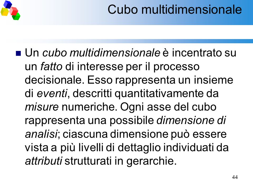 Cubo multidimensionale