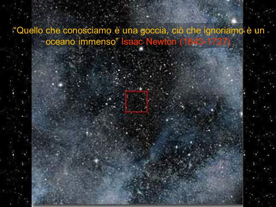Quello che conosciamo è una goccia, ciò che ignoriamo è un oceano immenso Isaac Newton (1643-1727)