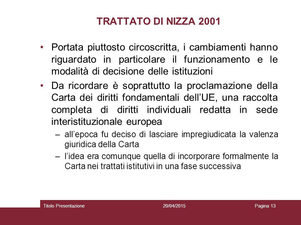 TRATTATO DI NIZZA 2001