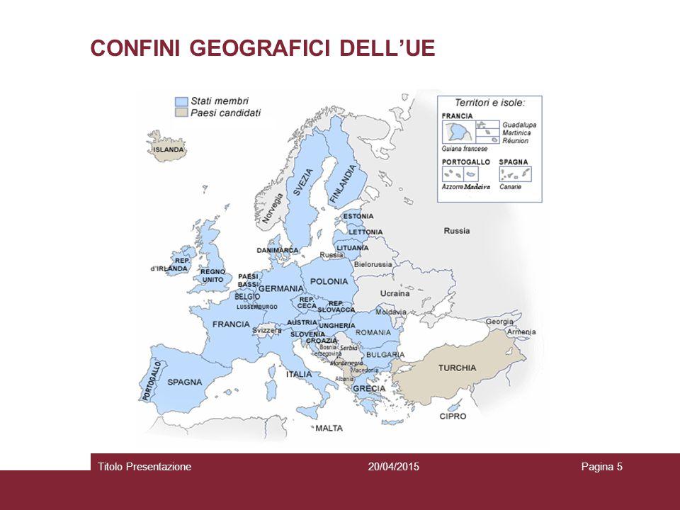 CONFINI GEOGRAFICI DELL'UE