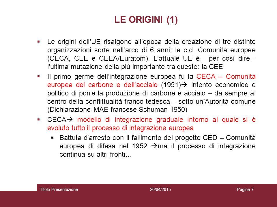 LE ORIGINI (1)