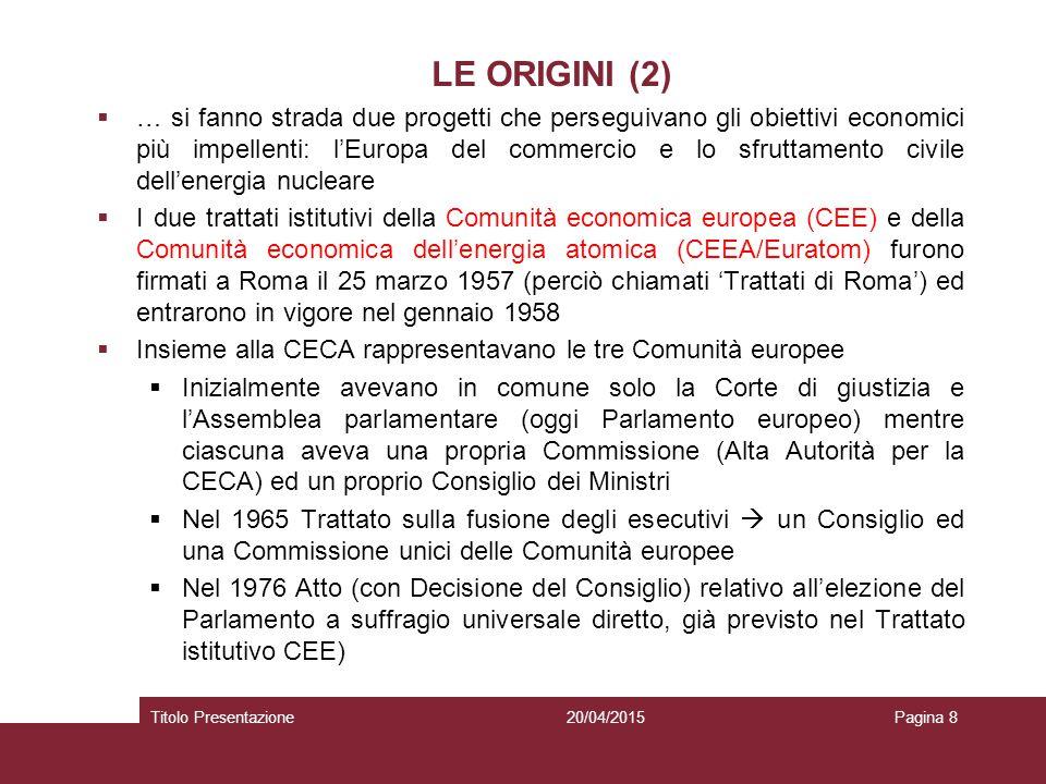 LE ORIGINI (2)