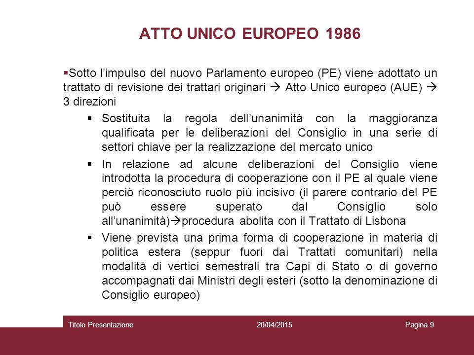 ATTO UNICO EUROPEO 1986
