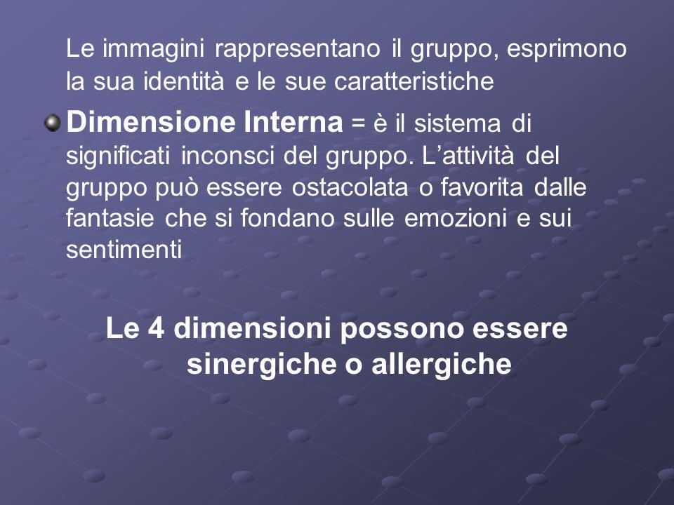 Le 4 dimensioni possono essere sinergiche o allergiche