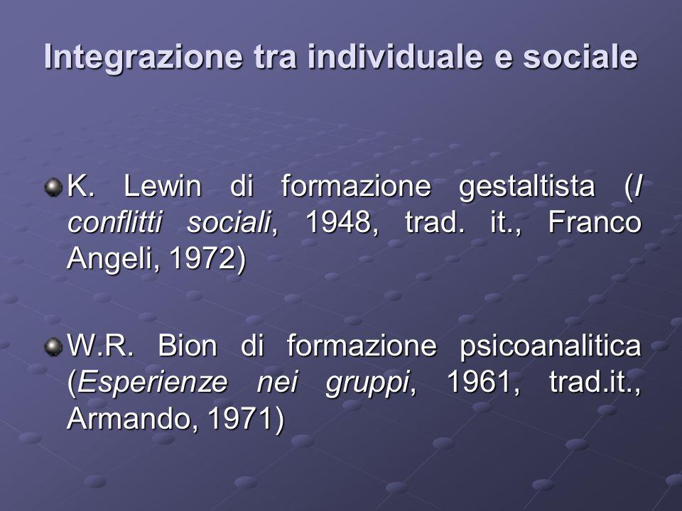 Integrazione tra individuale e sociale