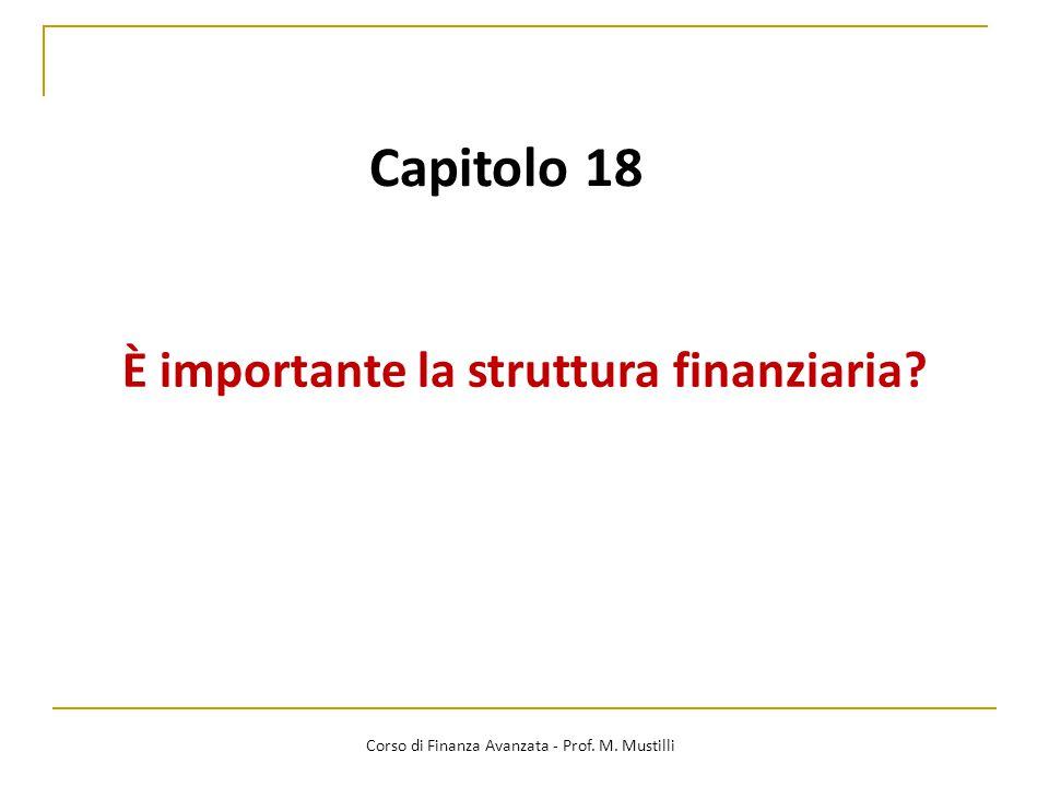 È importante la struttura finanziaria