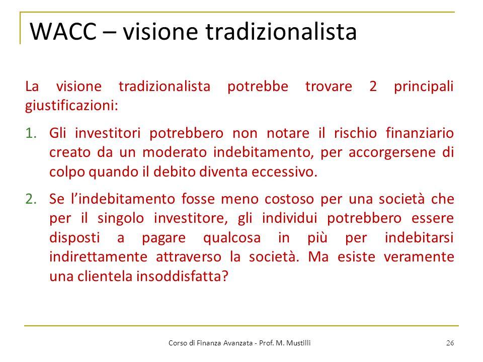 WACC – visione tradizionalista