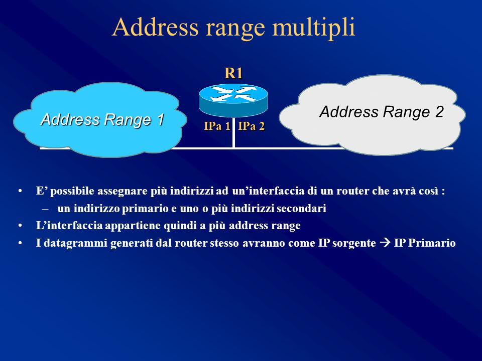 Address range multipli