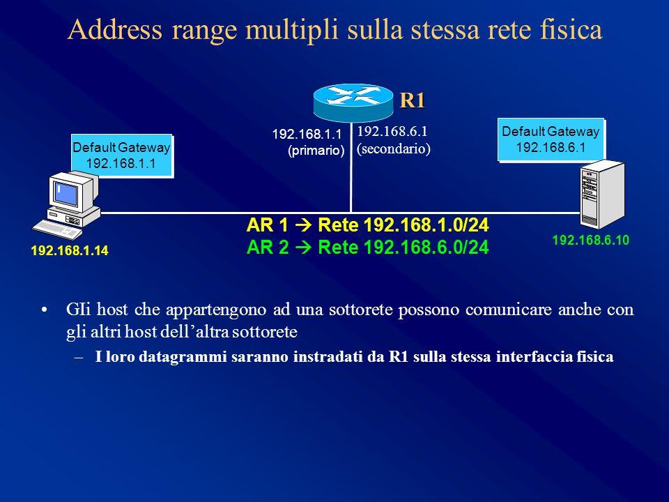 Address range multipli sulla stessa rete fisica