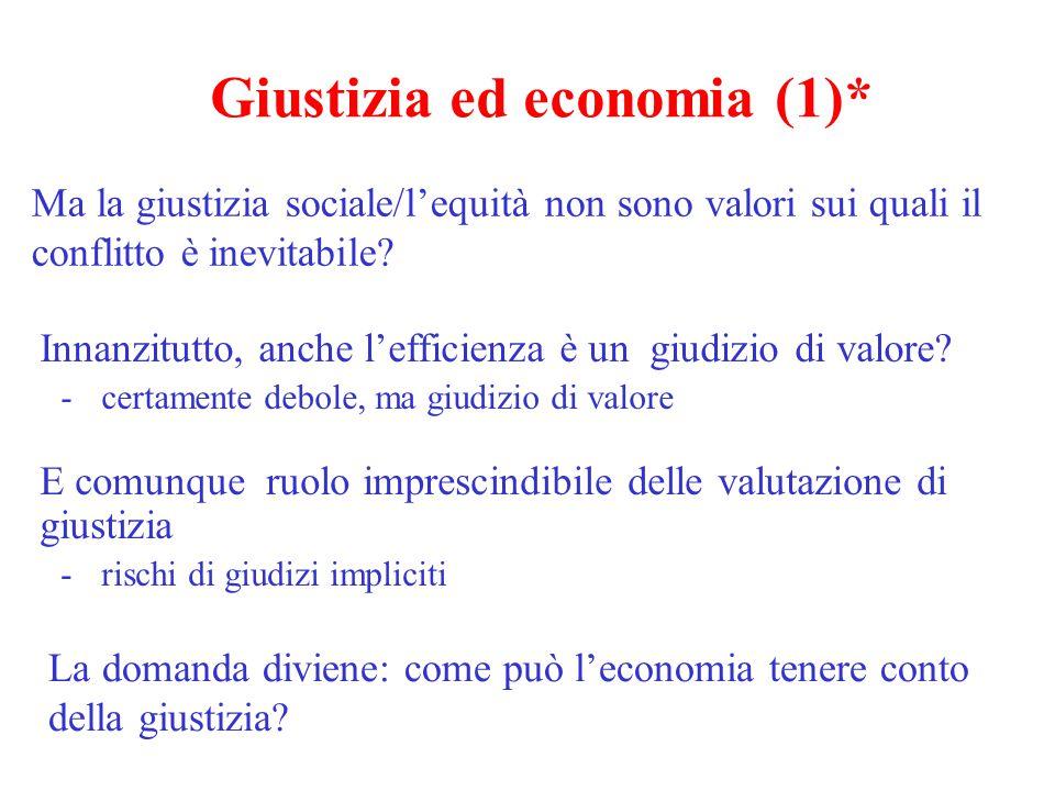 Giustizia ed economia (1)*