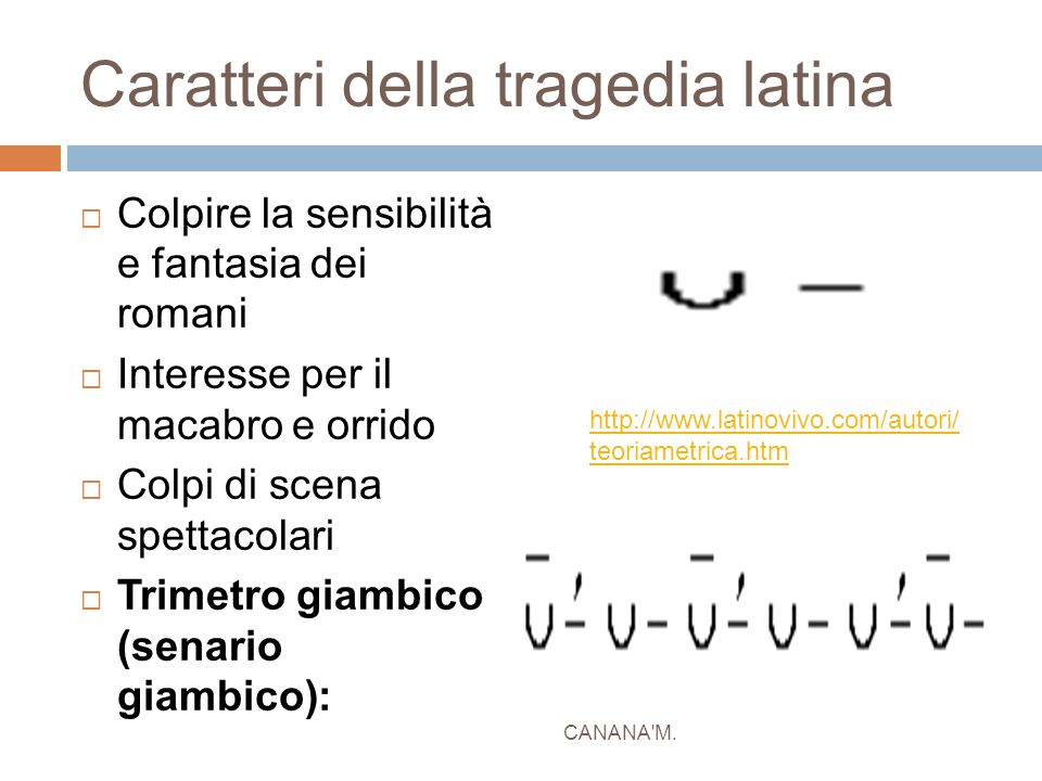 Caratteri della tragedia latina
