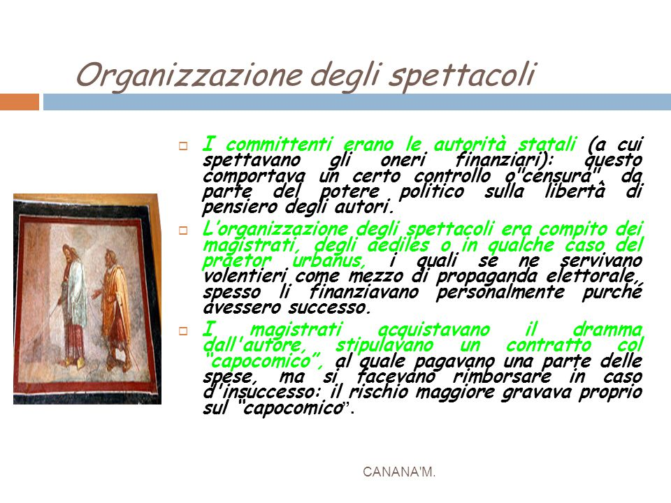 Organizzazione degli spettacoli