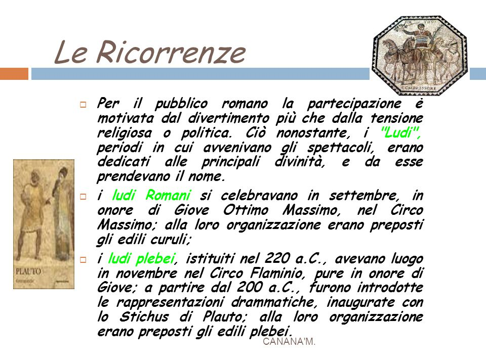 Le Ricorrenze