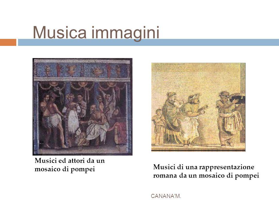 Musica immagini Musici ed attori da un mosaico di pompei