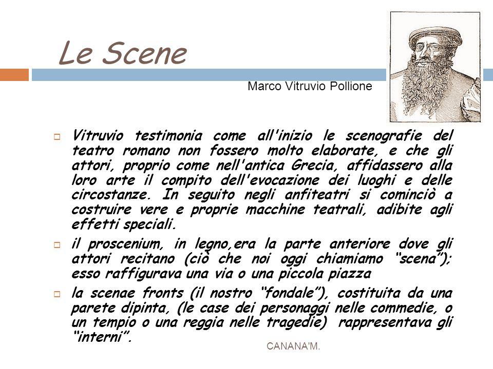 Le Scene Marco Vitruvio Pollione.
