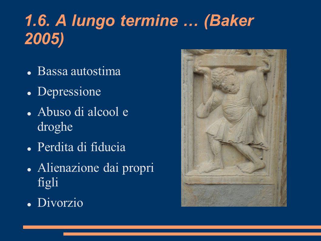 1.6. A lungo termine … (Baker 2005)