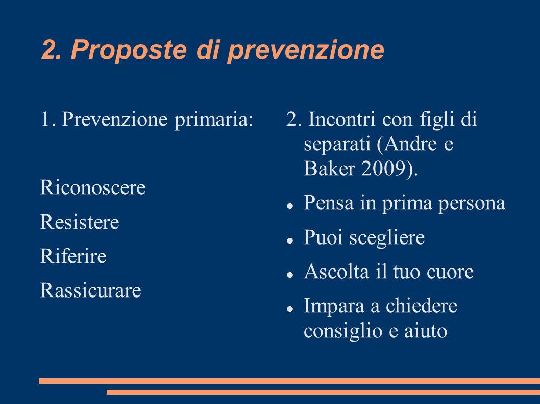 2. Proposte di prevenzione