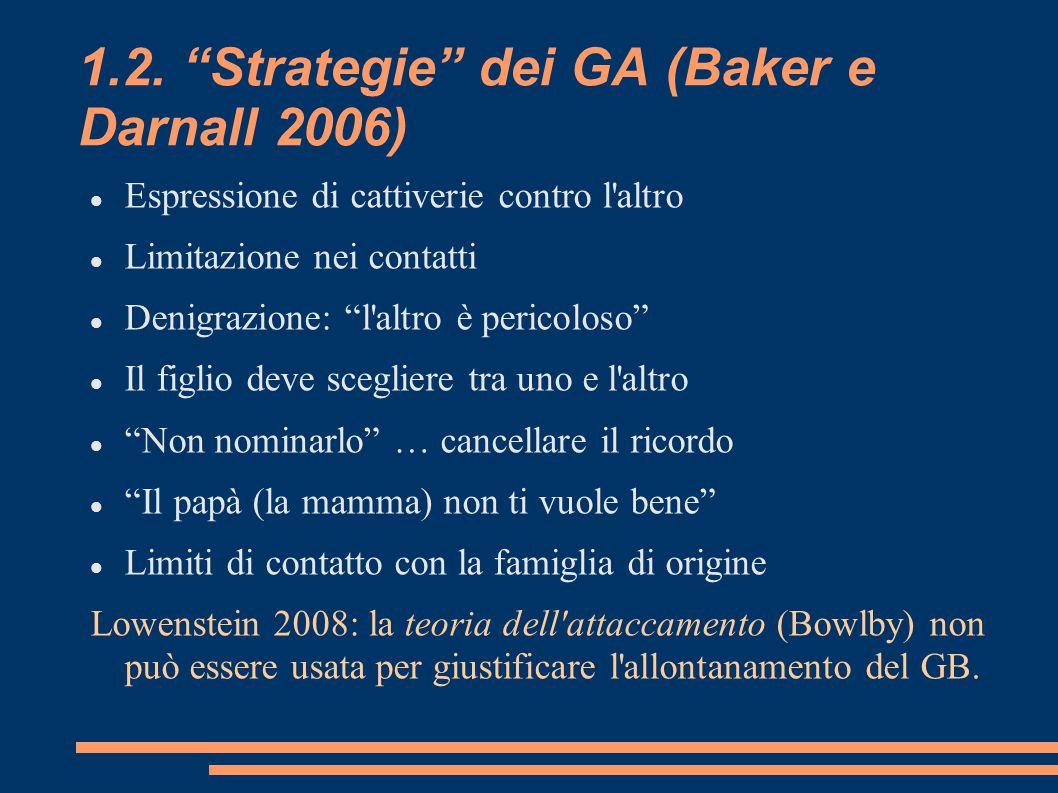 1.2. Strategie dei GA (Baker e Darnall 2006)