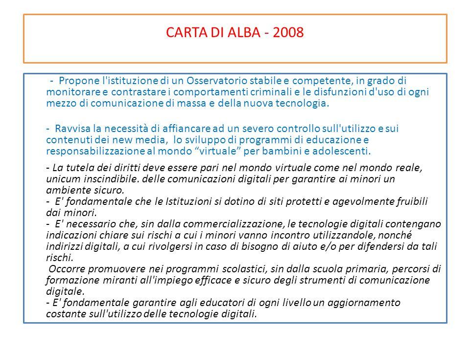 CARTA DI ALBA - 2008