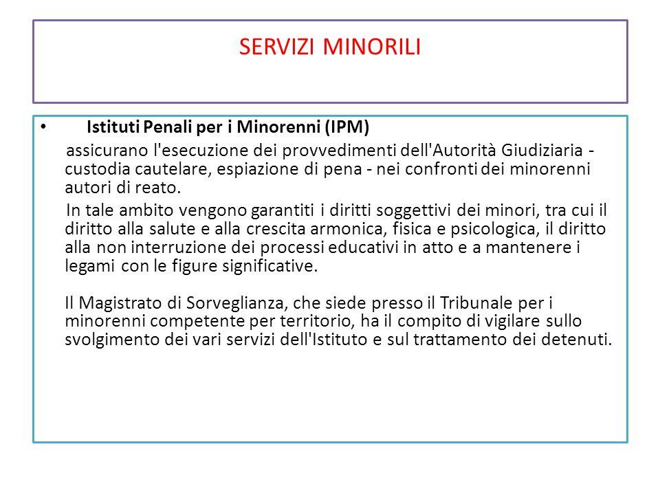 SERVIZI MINORILI Istituti Penali per i Minorenni (IPM)