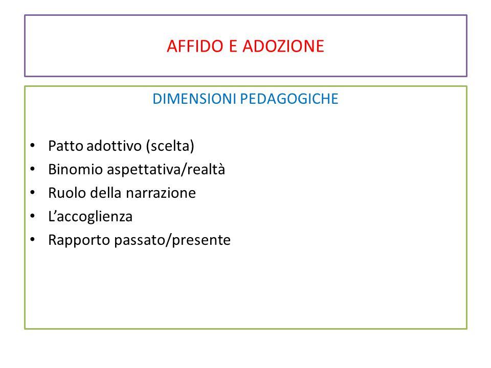 DIMENSIONI PEDAGOGICHE