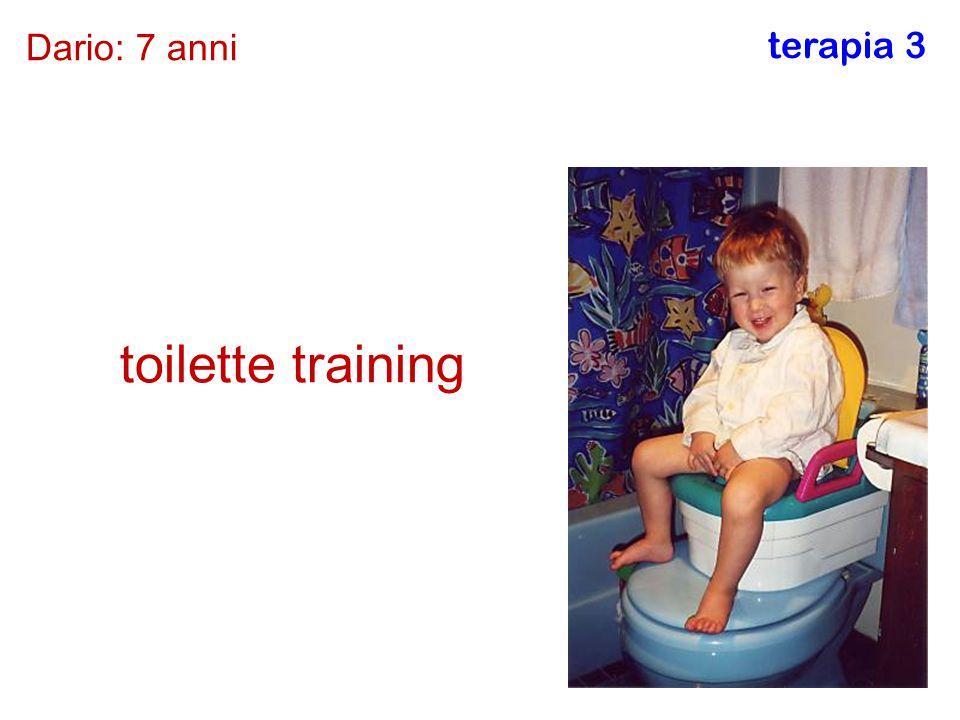 Dario: 7 anni terapia 3 toilette training
